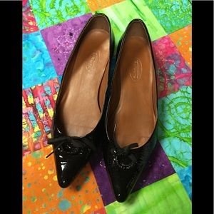 Talbots shiny leather loafers